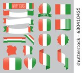set of ivory coast maps  flags  ... | Shutterstock .eps vector #630410435