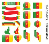 set of cameroon maps  flags ... | Shutterstock .eps vector #630410441