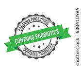 contains probiotics stamp... | Shutterstock .eps vector #630410969