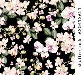 beautiful watercolor pattern... | Shutterstock . vector #630413651