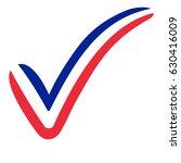 check mark style france flag... | Shutterstock .eps vector #630416009