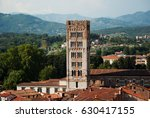 red roofs and tower of basilica ... | Shutterstock . vector #630417155