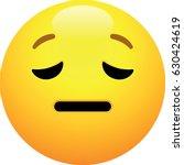 pensive face emoji | Shutterstock .eps vector #630424619