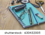 pen  pencils and other... | Shutterstock . vector #630432005