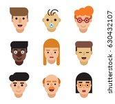 people avatars set. modern flat ... | Shutterstock .eps vector #630432107