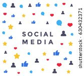 social media network. like... | Shutterstock .eps vector #630432371