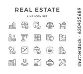 set line icons of real estate | Shutterstock .eps vector #630435689