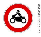 no motorcycles sign | Shutterstock .eps vector #630435881