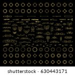 gold vintage decor elements and ... | Shutterstock . vector #630443171