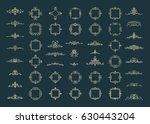 huge rosette wicker border... | Shutterstock . vector #630443204