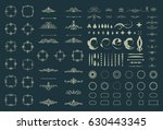 circle and square wicker... | Shutterstock . vector #630443345