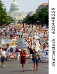 Small photo of 75th Anniversary march celebrating the passage of the 19th amendment which was ratified on August 18th, 1920 giving women the right to vote., Washington DC., August 26, 1995