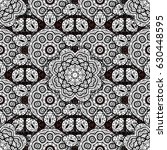 vector abstract floral wreath...   Shutterstock .eps vector #630448595