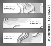 horizontal banners with 3d... | Shutterstock .eps vector #630452117