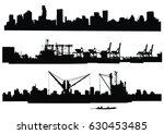 city skyline silhouette | Shutterstock .eps vector #630453485