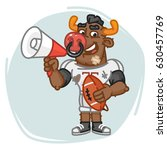 bull football player speaks... | Shutterstock .eps vector #630457769