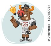 bull football player came up... | Shutterstock .eps vector #630457784