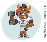 bull football player holds... | Shutterstock .eps vector #630457811