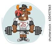 bull football player holds... | Shutterstock .eps vector #630457865