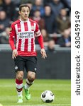 Small photo of NETHERLANDS, EINDHOVEN - April 23th 2017: PSV vs Ajax in the Dutch Eredivisie football , Andres Guardado Mexican player for PSV