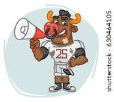 bull football player speaks... | Shutterstock .eps vector #630464105