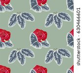 seamless pattern with beautiful ... | Shutterstock .eps vector #630466601