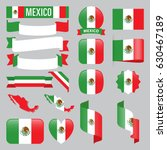 set of mexico maps  flags ...