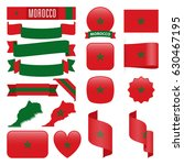 set of morocco maps  flags ... | Shutterstock .eps vector #630467195