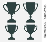 trophy cup silhouettes | Shutterstock .eps vector #630469631