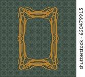 art nouveau elegant smooth...   Shutterstock .eps vector #630479915
