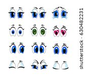 cartoon eye set | Shutterstock .eps vector #630482231