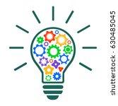 mechanism of generating ideas   ... | Shutterstock .eps vector #630485045