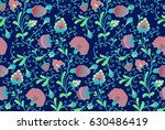 seamless floral pattern | Shutterstock .eps vector #630486419