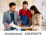 young couple consults with ...   Shutterstock . vector #630490679