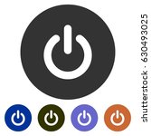 icons power button for web ... | Shutterstock .eps vector #630493025
