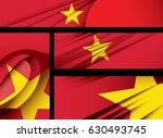 vector vietnam flag  vietnamese ... | Shutterstock .eps vector #630493745