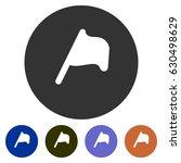 icons map flag for web  mobile... | Shutterstock .eps vector #630498629