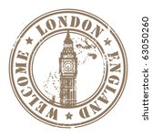 grunge rubber stamp with london ... | Shutterstock .eps vector #63050260