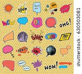 comic book speech bubbles and... | Shutterstock .eps vector #630503081