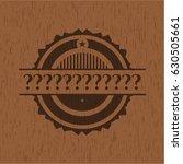 question mark wood emblem....   Shutterstock .eps vector #630505661