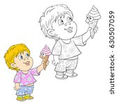 coloring page for children a... | Shutterstock .eps vector #630507059