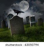 cemetery with old gravestones ... | Shutterstock . vector #63050794