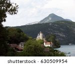 castle and village next to... | Shutterstock . vector #630509954