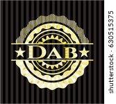 dab gold badge or emblem | Shutterstock .eps vector #630515375
