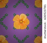 seamless floral pattern in cute ... | Shutterstock .eps vector #630523781