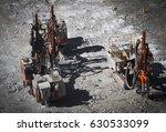 drilling machine makes bore... | Shutterstock . vector #630533099
