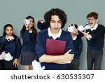 group of diverse students... | Shutterstock . vector #630535307