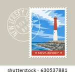 new jersey  postage stamp... | Shutterstock .eps vector #630537881