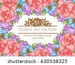 vintage delicate invitation... | Shutterstock .eps vector #630538325
