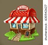 shop. 3d vector icon | Shutterstock .eps vector #630542627